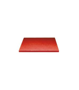 Stabile Quadratische Tortenunterlage Rot, 15cm