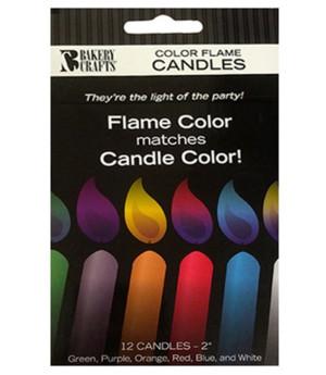 Kerzen Color Flame bunt, 12 Stück