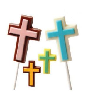 Schokolutscher Form Kreuze