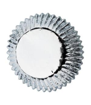 Muffinförmchen klein Silber, 36 Stück