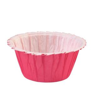 Muffinförmchen Double Ruffle Pink, 24 Stück