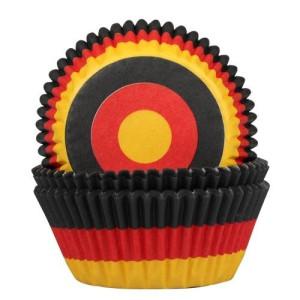 Muffinförmchen Deutschlandfahne