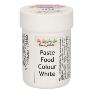 Funcakes FunColours Paste Food Colour - white/weiß 30 g