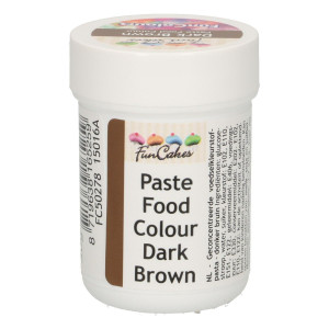 Funcakes FunColours Paste Food Colour - Dark Brown/Dunkelbraun 30 g