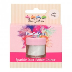Sparkle Dust Edible Colour - Light Silver