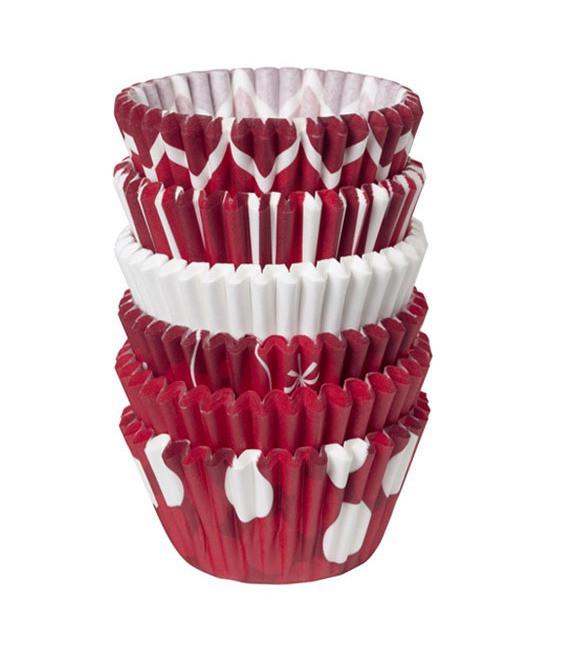 Muffinförmchen klein Holliday Red Mix, 150 Stück