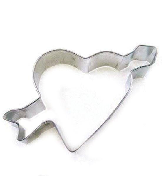 Ausstecher Herz mit Pfeil, 8,9 cm