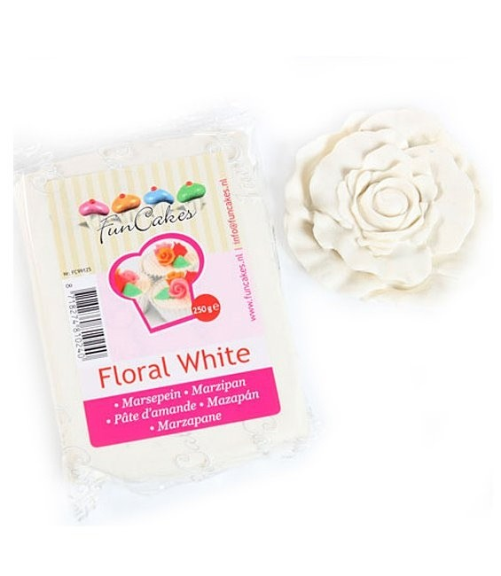 Marzipan, 250g Floral White