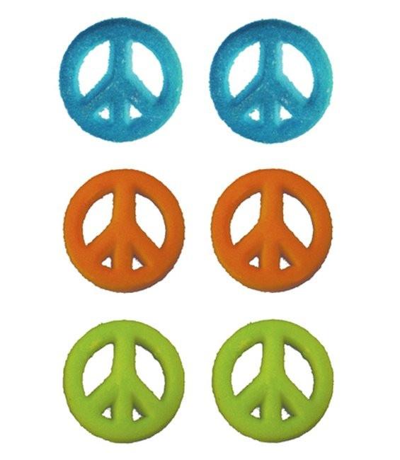 Peace Zeichen Farbe 2, 8 Stück - Mindesthaltbarkeitsdatum 27.08.2017