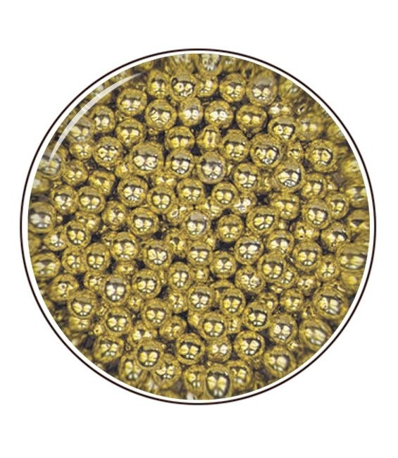 Metallic- Zuckerperlen 4mm 80g, Gold