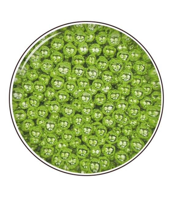 Metallic- Zuckerperlen 4mm 80g, Grün