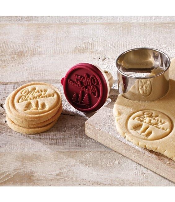 Cookie- Keksstempel Merry Christmas, 7 cm