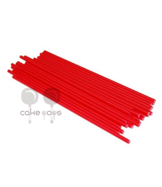 Kunststoff Lollipop Sticks Rot 19 cm, 25 Stück