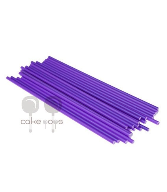 Kunststoff Lollipop Sticks Violett 19 cm, 25 Stück
