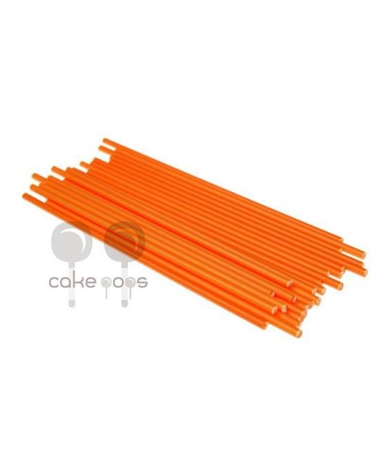 Kunststoff Lollipop Sticks Orange 19 cm, 25 Stück