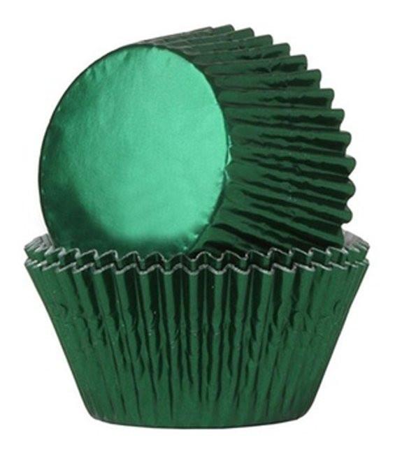 Muffinförmchen Metall Grün, 24 Stück