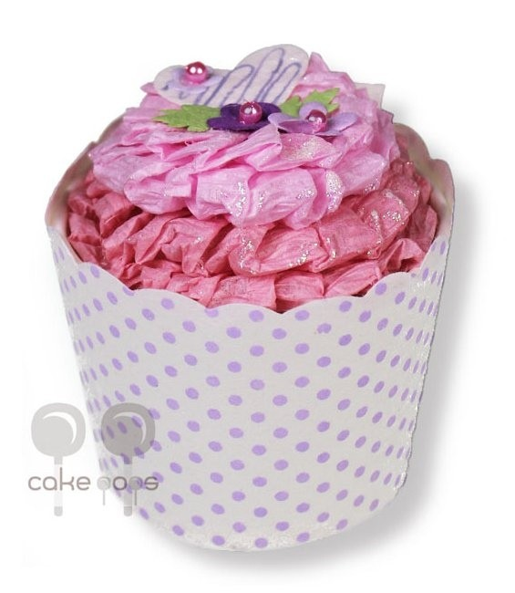 Papiergeschenkbox als Cupcakes Erdbeertörtchen