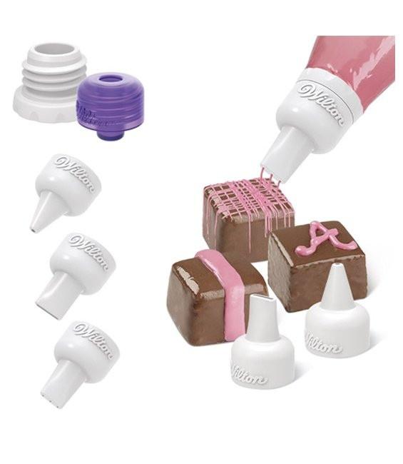 Schokoladen Dekoration Set, 5-teilig