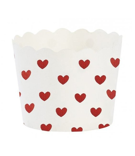 Muffinförmchen Rote Herzen, 24 Stück