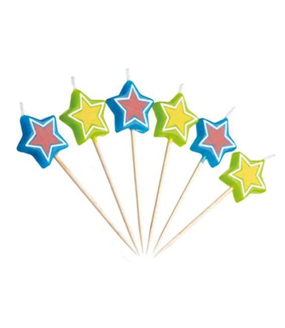 Minikerzen Sterne, 12 Stück