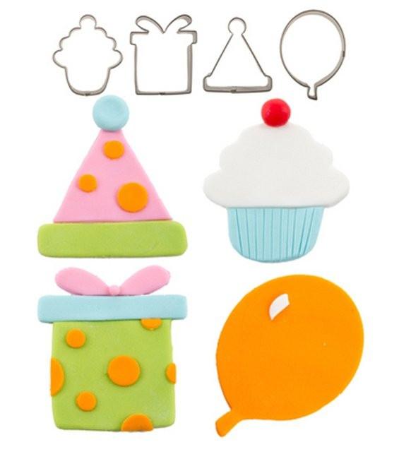 Ausstecher Set Happy Birthday, 4-teilig