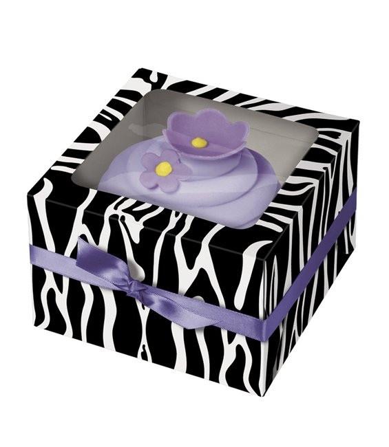 Cupcakes Box Zebra, 3 Stück