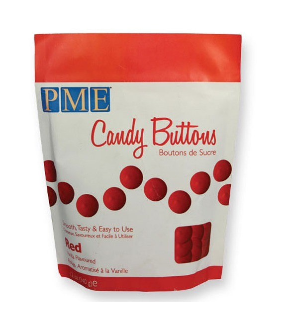Candy Buttons Red, 340g MHD 25.01.2018
