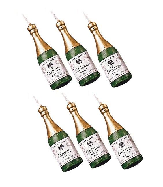 Kerzen Champangerflaschen, 6 Sück