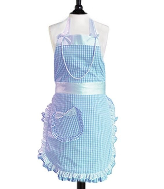 Haute Couture Backschürze Hellblau