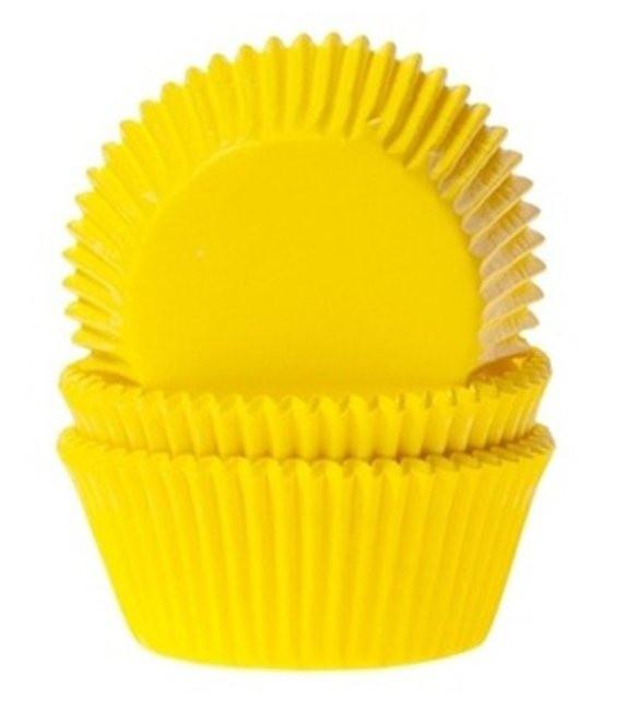 HoM Muffinförmchen Sonnengelb, 50 Stück