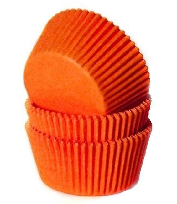 HoM Muffinförmchen Knallorange, 50 Stück