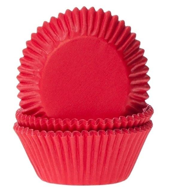 Muffinförmchen Blutrot, 50 Stück