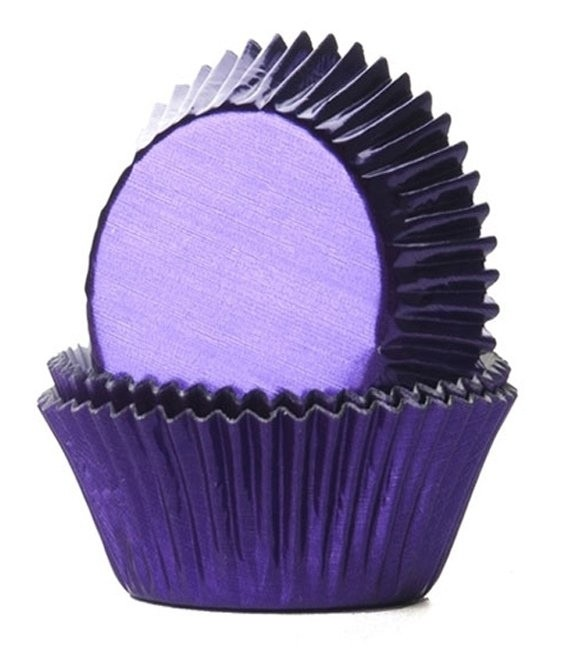 Muffinförmchen Metall Violett, 24 Stück