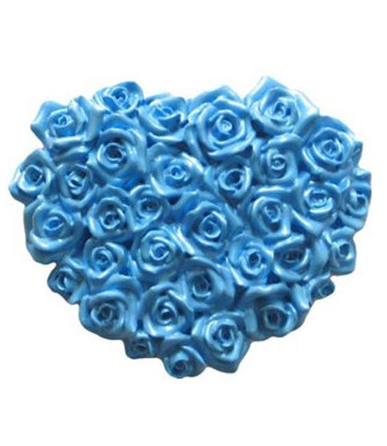 Fondant Silikonform Herz aus Rosen