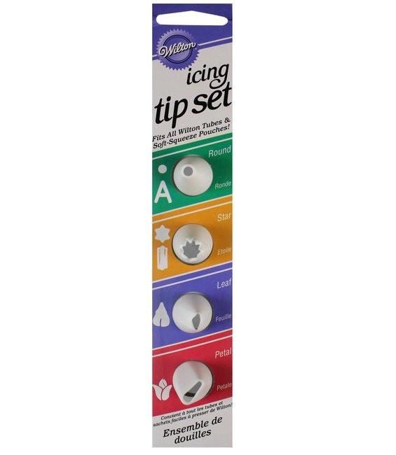 Icing Tip Set, 4-teilig