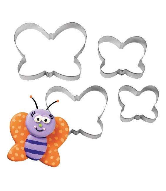 Ausstecher Schmetterling Set, 4 -Stück